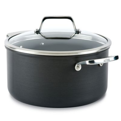 All-Clad B1 Hard Anodized Nonstick 6 qt. Stock Pot with Lid