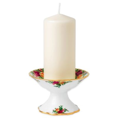 Royal Albert Old Country Roses Pillar Candle Holder