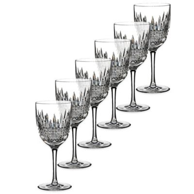 Waterford® Lismore Diamond White Wine Glasses (Set of 6)