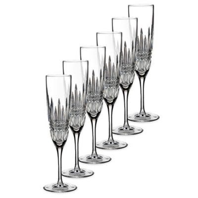 Waterford® Lismore Diamond Flutes (Set of 6)
