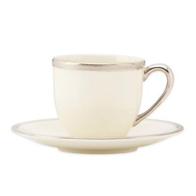 Lenox® Tuxedo Platinum Demitasse Cup and Saucer