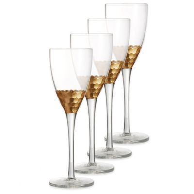 Daphne Wine Glasses in Gold