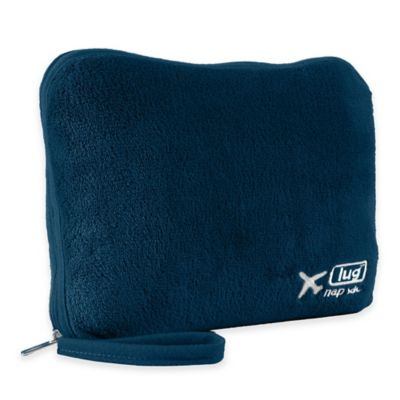 Navy Blanket and Pillow Set