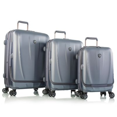 Heys® Vantage Smart Luggage™ 3-Piece Expandable Spinner Set in Slate Blue