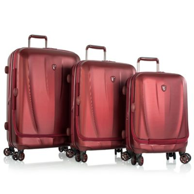 Heys® Vantage Smart Luggage™ 3-Piece Expandable Spinner Set in Burgundy