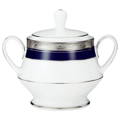 Noritake® Crestwood Cobalt Platinum 10-Ounce Covered Sugar