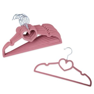 Kids Heart 10-Count Hangers in Pink