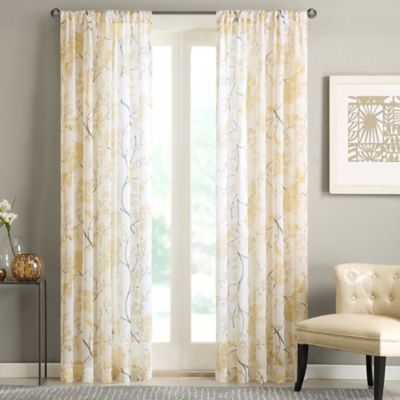 Regency Heights Casabella 63-Inch Window Curtain Panel in Yellow