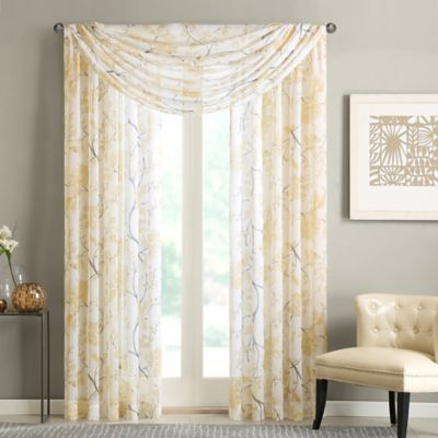 Regency Heights Casabella Window Curtain Scarf Valance in Yellow