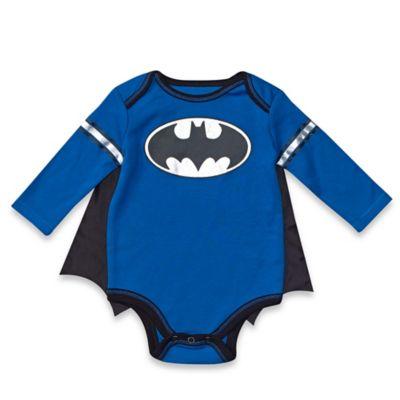 DC Comics™/Warner Bros® Batman Size 0-3M Bodysuit and Cap Set in Blue
