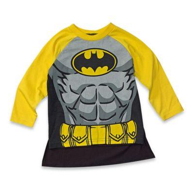 DC Comics™/Warner Bros® Batman Size 4T Long Sleeve T-Shirt and Cape Set in Blue