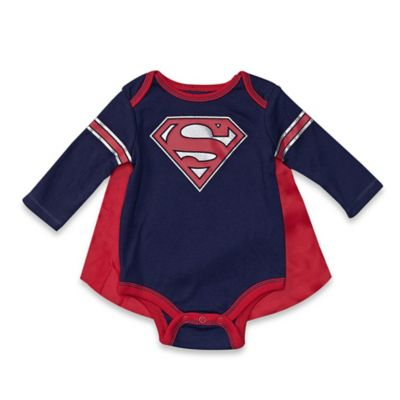 DC Comics™/Warner Bros® Superman Size 3-6M Bodysuit and Cape Set in Blue/Red