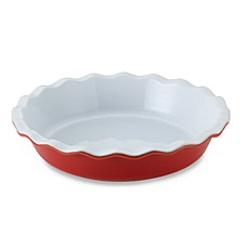 Emile Henry 9-Inch Pie Dish in Cerise
