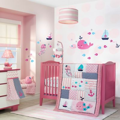 Lambs & Ivy® Splish Splash 4-Piece Crib Bedding Set