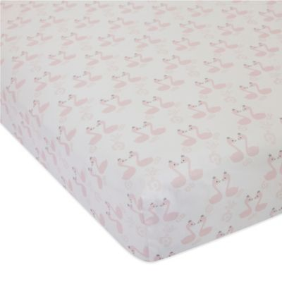 Lambs & Ivy® Swan Lake Fitted Crib Sheet