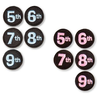 Mom to Be 5th-9th Month Numerals in Pink/Black