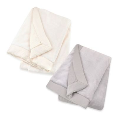 Just Born® Luxury Plush Blanket in Platinum