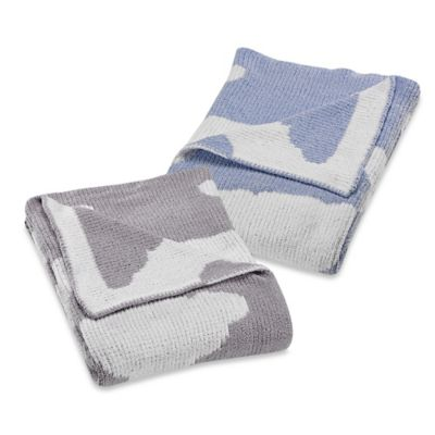 Just Born® Clouds Chenille Sweater Blanket in Blue