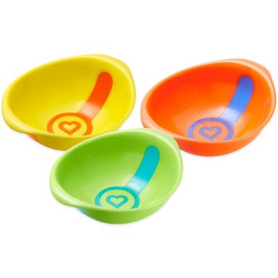 Munchkin® White Hot® 3-Pack Toddler Bowls in Yellow/Green/Orange