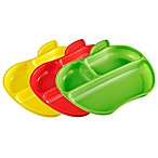Munchkin® Lil Apple 3-Pack Divided Plates in Green/Red/Yellow