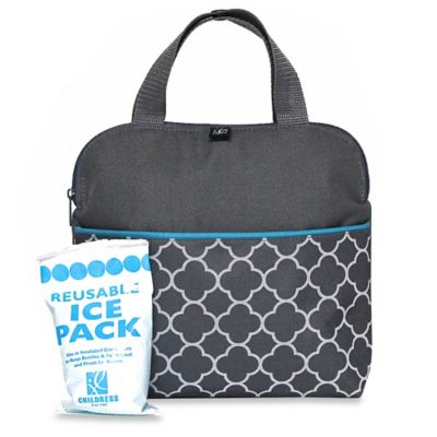 J.L. Childress MaxiCOOL™ Insulated 4-Bottle Cooler Tote in Grey Clover