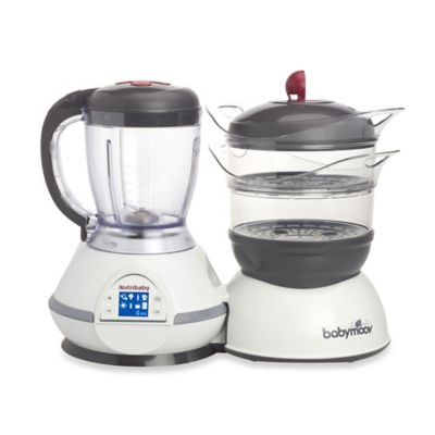 Babymoov® Nutribaby Food Processor in Grey/Cream/Cherry