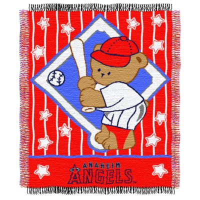 MLB Anaheim Angels Woven Jacquard Baby Blanket/Throw