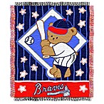MLB Atlanta Braves Woven Jacquard Baby Blanket/Throw
