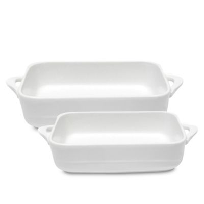 Maxwell & Williams™ White Basics Oven Chef Rectangular Bakers (Set of 2)