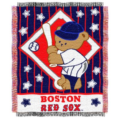 MLB Boston Red Sox Woven Jacquard Baby Blanket/Throw