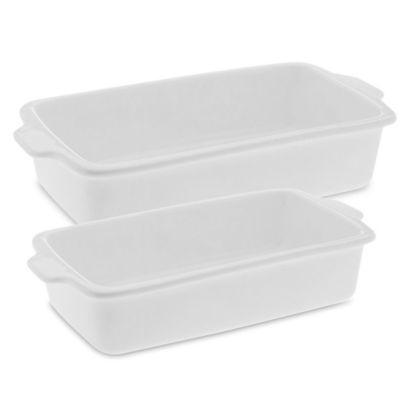 White Basics Rectangular Bakers