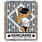 MLB Chicago White Sox Woven Jacquard Baby Blanket/Throw