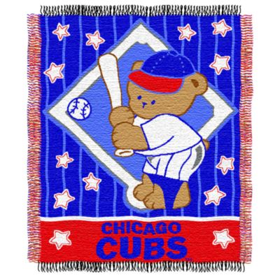 MLB Chicago Cubs Woven Jacquard Baby Blanket/Throw