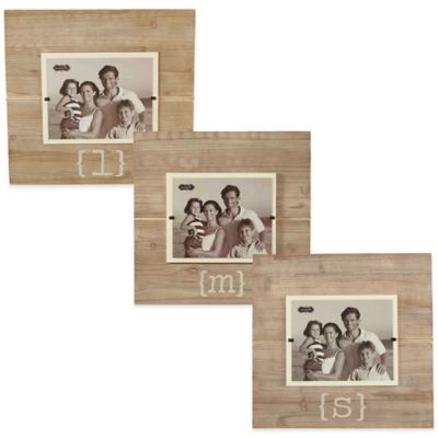 "Mud Pie® Letter ""E"" 8-Inch x 10-Inch Wood Picture Frame"
