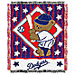 MLB Los Angeles Dodgers Woven Jacquard Baby Blanket/Throw