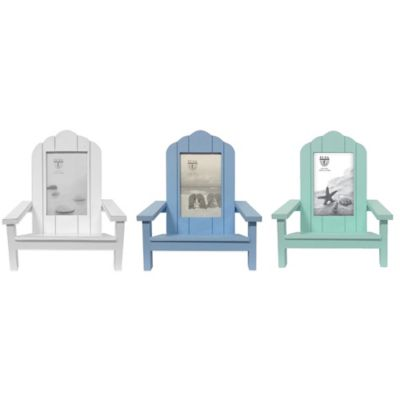 Elsa L Coastal Chair 4-Inch x 6-Inch Picture Frame in White