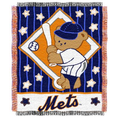 MLB New York Mets Woven Jacquard Baby Blanket/Throw