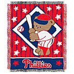 MLB Philadelphia Phillies Woven Jacquard Baby Blanket/Throw