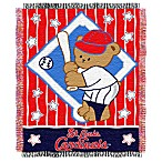 MLB St. Louis Cardinals Woven Jacquard Baby Blanket/Throw