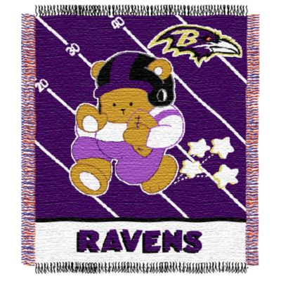 NFL Baltimore Ravens Woven Jacquard Baby Blanket/Throw