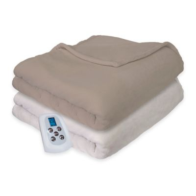 Therapedic® Silky Plush Heated Queen Blanket in Ivory