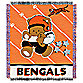 NFL Cincinnati Bengals Woven Jacquard Baby Blanket/Throw