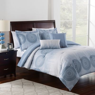 Charlee 5-Piece Full/Queen Comforter Set in Cornflower Blue