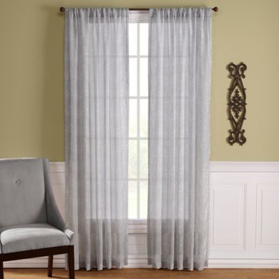 Lexington Harbor Rod Pocket 95-Inch Window Curtain Panel in Blue/Green