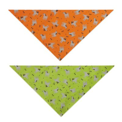 Insect Shield Dog & Bones Bandana in Fern
