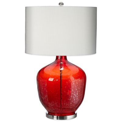 Pacific Coast® Lighting Gala Table Lamp in Red with Textured Shade