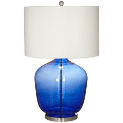 Pacific Coast® Lighting Gala Table Lamp in Blue with Textured Shade