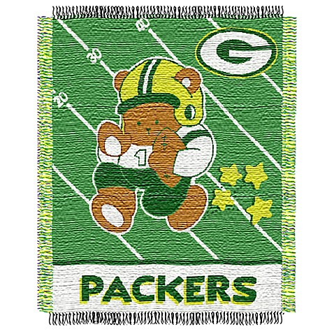 NFL Green Bay Packers Woven Jacquard Baby Blanket/Throw
