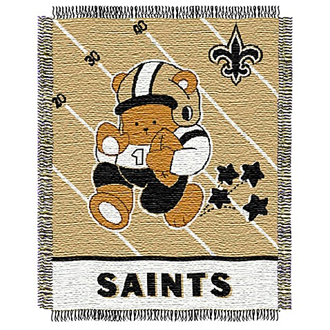 NFL New Orleans Saints Woven Jacquard Baby Blanket/Throw