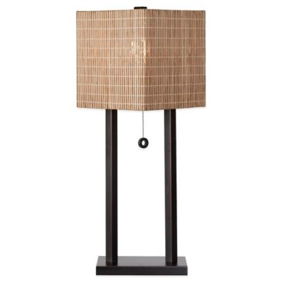 Kenroy Home Offset Table Lamp in Oil Rubbed Bronze